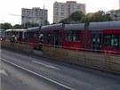 V úterý večer se na Červeném vrchu srazily dvě tramvaje