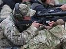 Americký odstřelovač při mezinárodní soutěži policejních a vojenských střelců,...