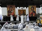 Na pravoslavnou liturgii se přijelo podívat asi dva tisíce lidí.