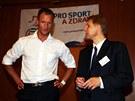 Cyklista, vítěz Závodu míru, Ondřej Sosenka a mistr světa v krasobruslení ve