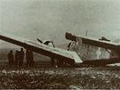 Maďarský Junkers 52 sestřelený Františkem Cyprichem 2. září 1944.
