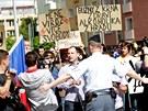 Protest proti Miloši Zemanovi před nejvyšším soudem v Brně (21. května 2013)