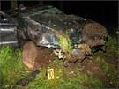 K nehod� do�lo v noci na �ter� kr�tce p�ed druhou hodinou na silnici druh�
