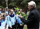 Prezident Miloš Zeman se zúčastnil otevírání studánek Barborky a Vitulky u Tří