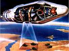 Špionážní satelit KH-4 programu Corona obsahoval dva návratové moduly, které na...