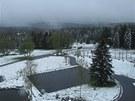 Sníh je také na Bučině.