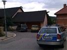 Místo čtyřnásobné vraždy v Brně-Ivanovicích je obehnané páskou.