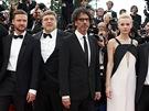 Tvůrci filmu Inside Llewyn Davis na červeném koberci v Cannes