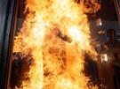 Thermo-Man od DuPonotu  v plamenech na brn�nsk�m veletrhu Pyros
