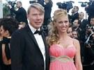 Mika Häkkinen a Markéta Kromotová (Cannes 2013)