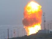 Start americké mezikontinentální střely Minuteman III z kalifornské základny