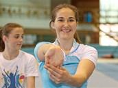 Šárka Záhrobská - Strachová při tréninku v hale Sparty.