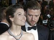 Jessica Bielová a Justin Timberlake (Cannes, 19. kv�tna 2013)