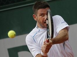 Český tenista Jan Hájek bojuje ve 2. kole Roland Garros.