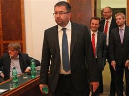 Majitel Baníku Ostrava Petr Šafarčík před předloňským hlasováním o prodeji Bazalů.