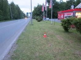 Cestující z autobusu vyskočil u benzínové stanice v ulici Holická v Hradci