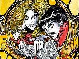 Kája Saudek: plakát k filmu Barbarella (nerealizovaný návrh)