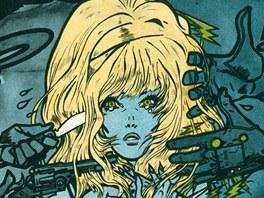 Kája Saudek: plakát k filmu Kdo chce zabít Jessii? (nerealizovaný návrh)