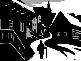 Ukázka z anglického vydání komiksu The Castle (Zámek)