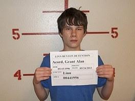 Grant Acord je zadržován ve vazební věznici pro mladistvé. Za plánování útoku