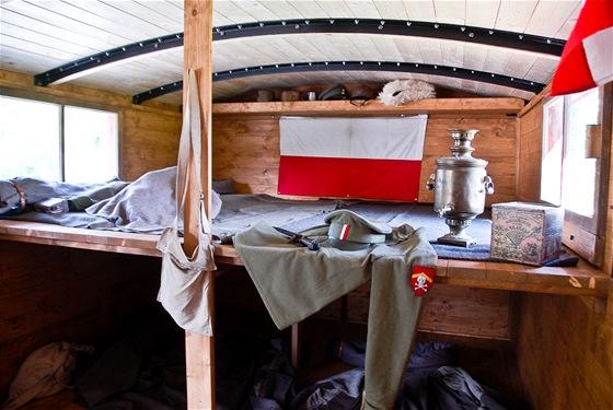 """Vagón přezdívaný """"těpluška"""", tedy pojízdný domov všech československých"""