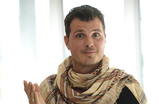 Herec a spisovatel Pelle Hvenegaard z oscarového filmu Pelle Dobyvatel