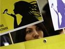 Protest Amnesty International za pr�va dvaadvacetilet� Beatriz p�ed