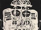 Jan K��ek, Bez n�zvu - Figura, 1956, linoryt, pap�r