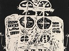 Jan Křížek, Bez názvu - Figura, 1956, linoryt, papír