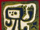 Jan Křížek, Bez názvu - Figura, 1959, linoryt, papír