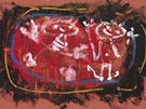 Jan Křížek, Figurativní kompozice, 1957, tempera, kvaš, barevný karton