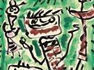 Jan Křížek, Bez názvu (Čtyři figury), 1957, kvaš, papír