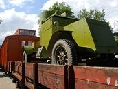 Kopie vlaku československých legionářů v předpremiéře během veletrhu IDET na
