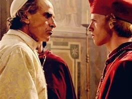 Cyron Meville (vpravo) a Jeremy Iron v seriálu Borgiové