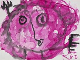 Jan Křížek, Bez názvu, 1960, akvarel, papír