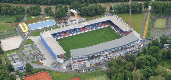 Stadion FC Viktoria ve Štruncových sadech.