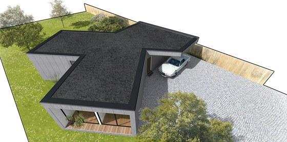 Zlomení obytné části nenásilně dělí dům na funkční úseky, aniž by musely být...