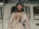Chris Beck na archivn�m sn�mku z Afgh�nist�nu. Sn�mek z knihy Warrior Princess