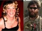 Vlevo Kristin Beck, nov� identita Chrise Becka (vpravo na misi v Afgh�nist�nu)