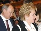 Vladimir a Ljudmila Putinovi před začátkem baletu Esmeralda ve Velkém kremelském paláci v Moskvě. Krátce po představení oznámili rozvod (6. června 2013).