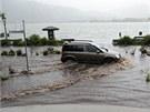Záplavy dorazily i do Německa. Situace u jezera Tegernsee.