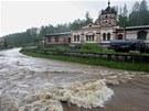 Řeka Svatava v Kraslicích.