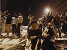 Protesty na Taksimském náměstí v Istanbulu pokračovaly i v noci z pondělí na