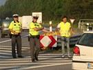 Dopravu před uzavírkou koordinovali i policisté.