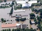 Zatopený německý Magdeburg, záchranáři museli v neděli evakuovat 23 tisíc lidí