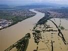 Dunaj zatopil oblast města Dunabogdany, 45 kilometrů západně od Budapešti (9.