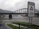 S následky hrozících povodní se potýká i Děčín (1. června)