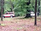 Tělo ženy, zavalené dubem v průhonickém parku,  vyprostili hasiči (3. června