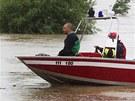 Povodeň v Kozárovicích, části obce Zálezlice ve Středočeském kraji. (3. června