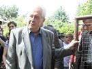 Prezident Miloš Zeman navštívil obyvatele pražských Lahoviček, které vyplavila...